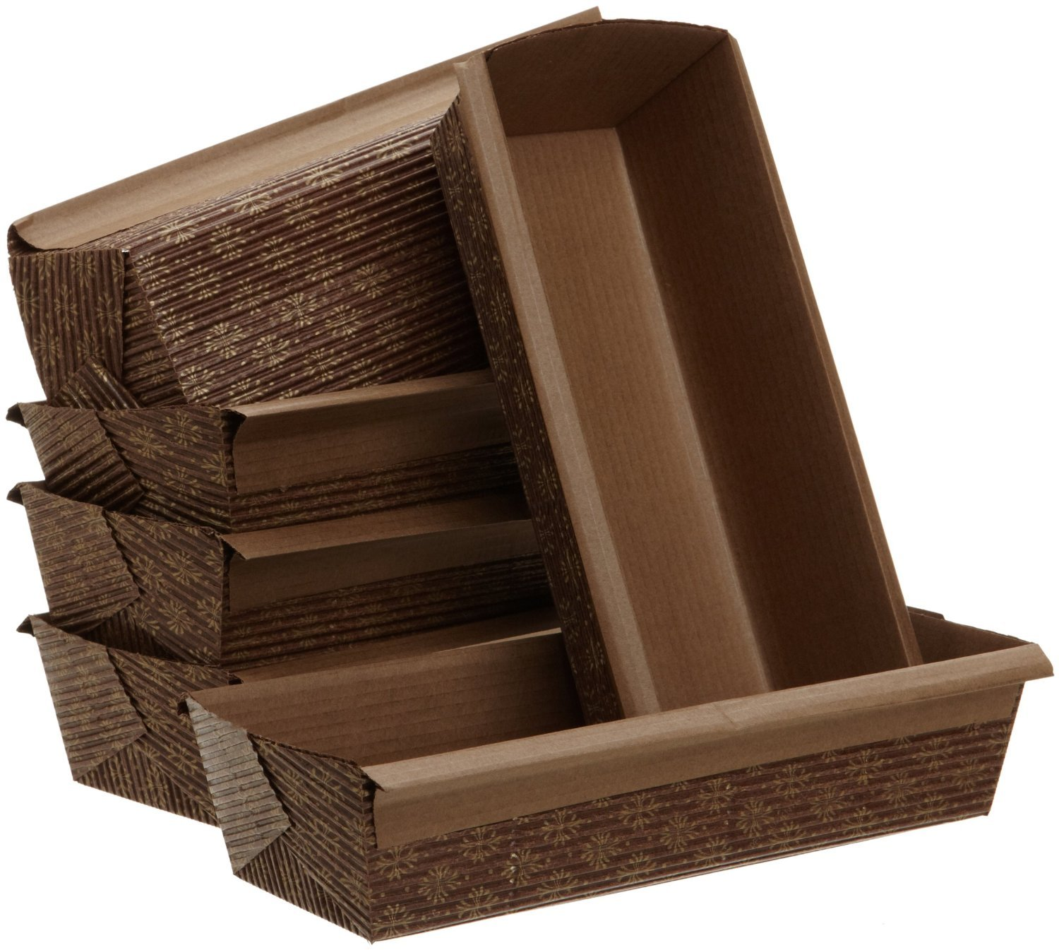 Kitchen Supply 2090 4 x 2 x 2 Inch Paper Loaf Pan Set of 6 Honey-Can-Do