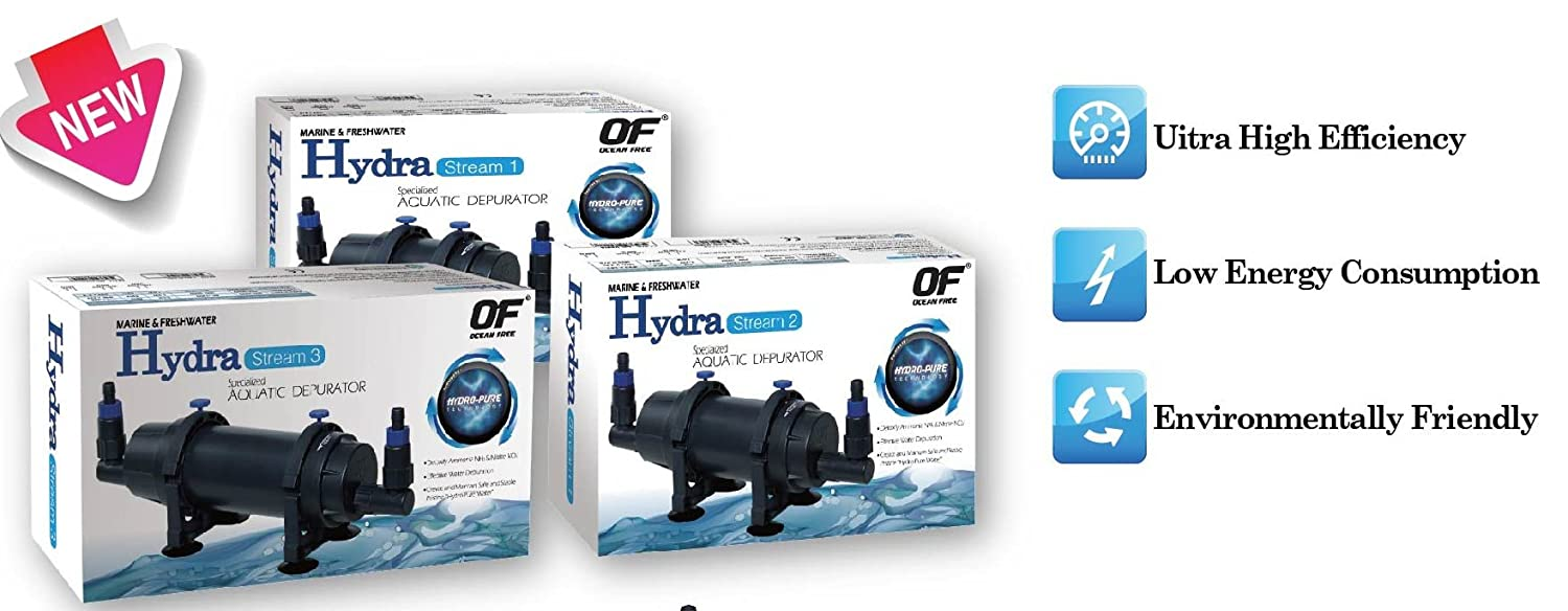 Fish & Aquariums 2019 New Style Ocean Free Hydra 20 Internal Filter And Depurator Hydro Pure Technology For Fast Shipping