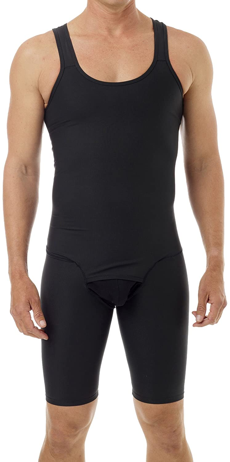 87bda0c2308f3 Underworks Mens Compression Bodysuit Shaper - Girdle for Gynecomastia Belly  Fat and Thighs at Amazon Men s Clothing store  Athletic Underwear