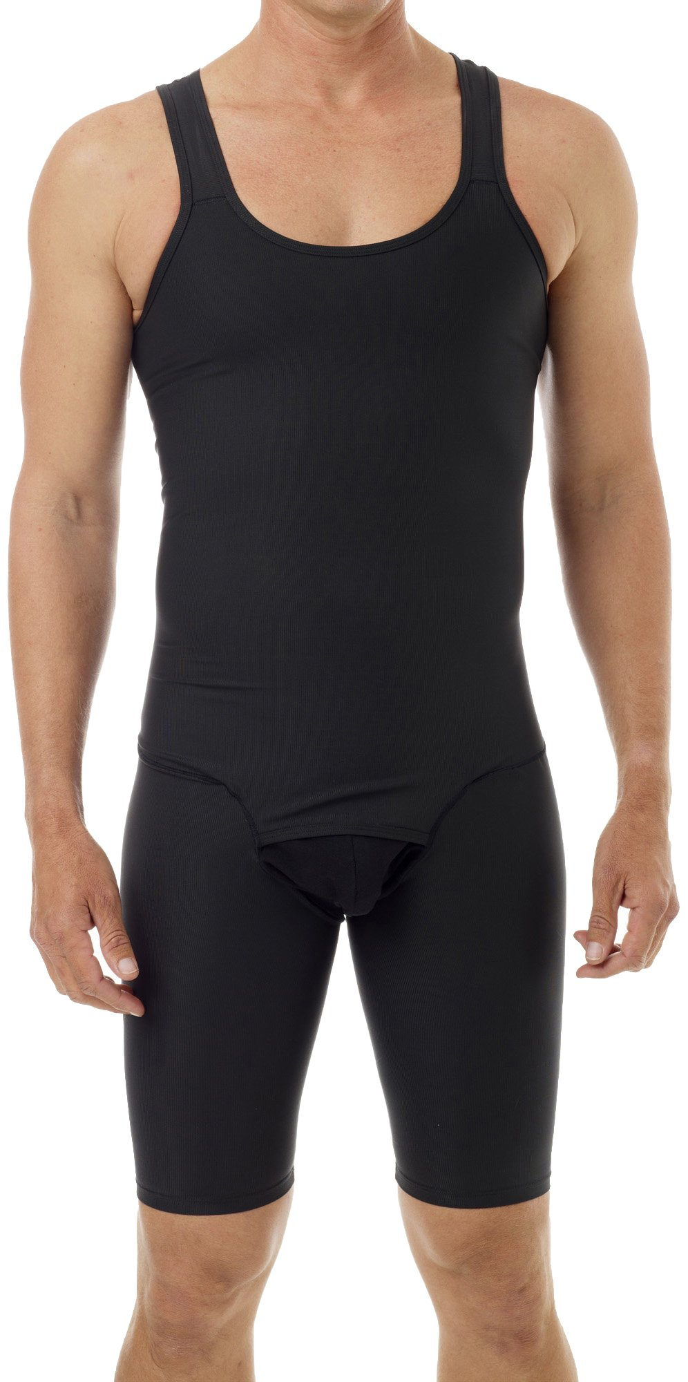 Underworks Mens Compression Bodysuit Girdle Shirt Large Black by Underworks