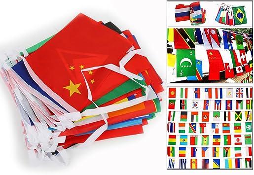 Itian® Banderines con banderas del mundo: Amazon.es: Electrónica