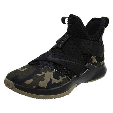 0d6b0de8930 Nike Herren Lebron Soldier XII SFG Schwarz Mesh Synthetik Basketballschuhe  45
