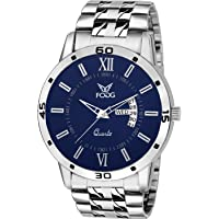 Fogg Analog Blue Day and Date Men's Watch 2047-BL