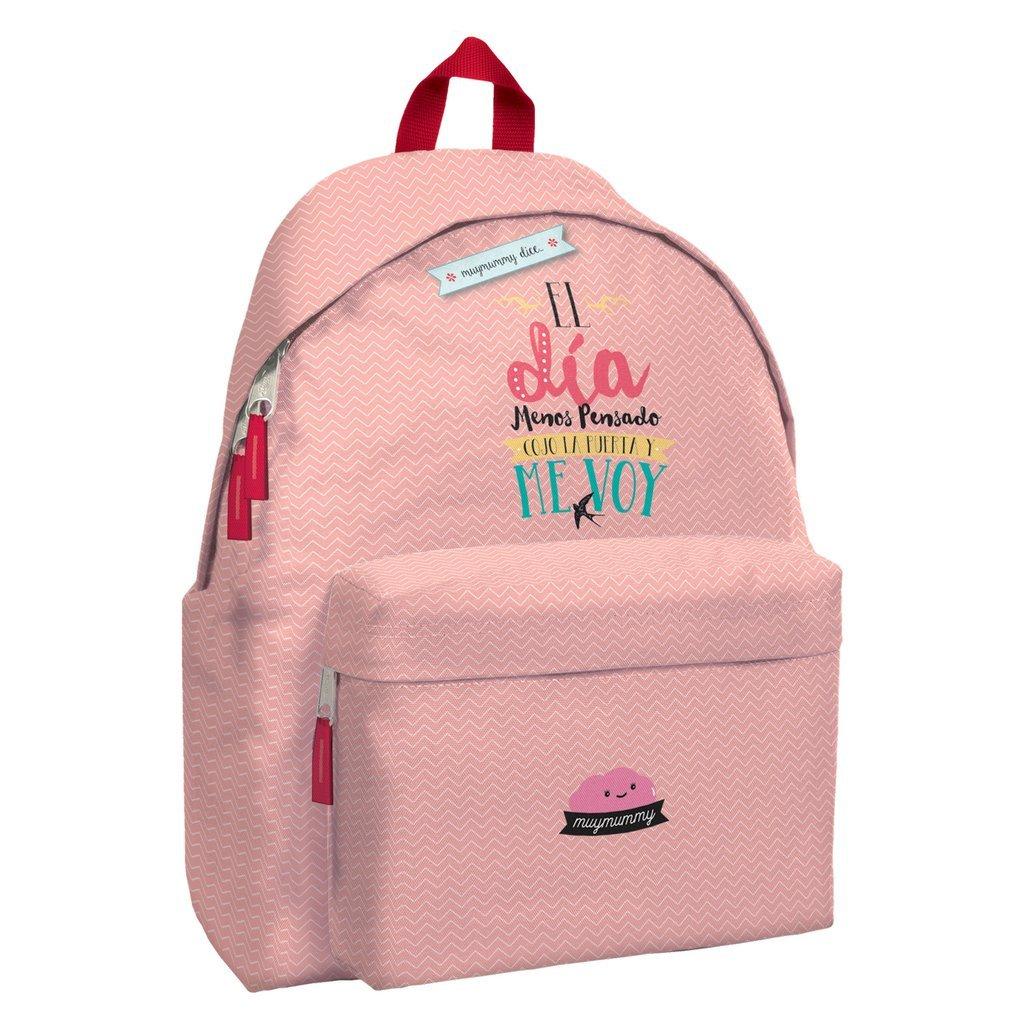 Mochila Escolar MUYMUMMY Cualquier Día, 42 cm. Daypack Rosa: Amazon.es: Equipaje
