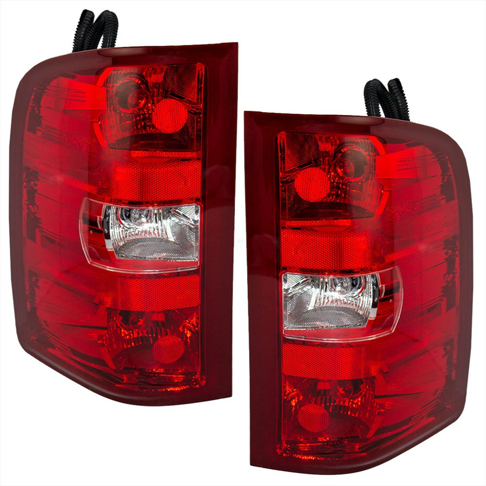 Taillights Tail Lamps Driver and Passenger Replacements for Chevrolet GMC Pickup Truck 25958482 25958483