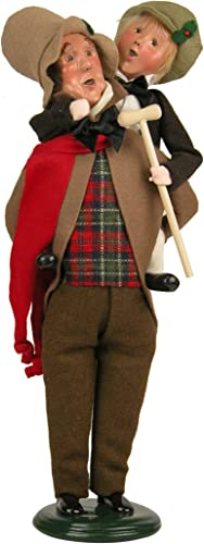 Byers Choice Bob Cratchit Tiny Tim Caroler Figurine 209 from The A Christmas Carol Collection