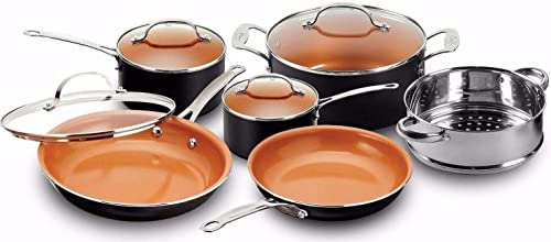 Gotham Steel Pots and Pans 10 Piece Cookware Set