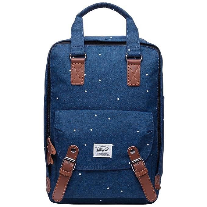 14 opinioni per KAUKKO Zaino per pc portatile Canvas, per la Scuola e il viaggio Daypacks