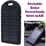 Gadget Hero's 8000mAh Portable Solar Charger. Waterproof Shockproof Dustproof Solar Power Bank.