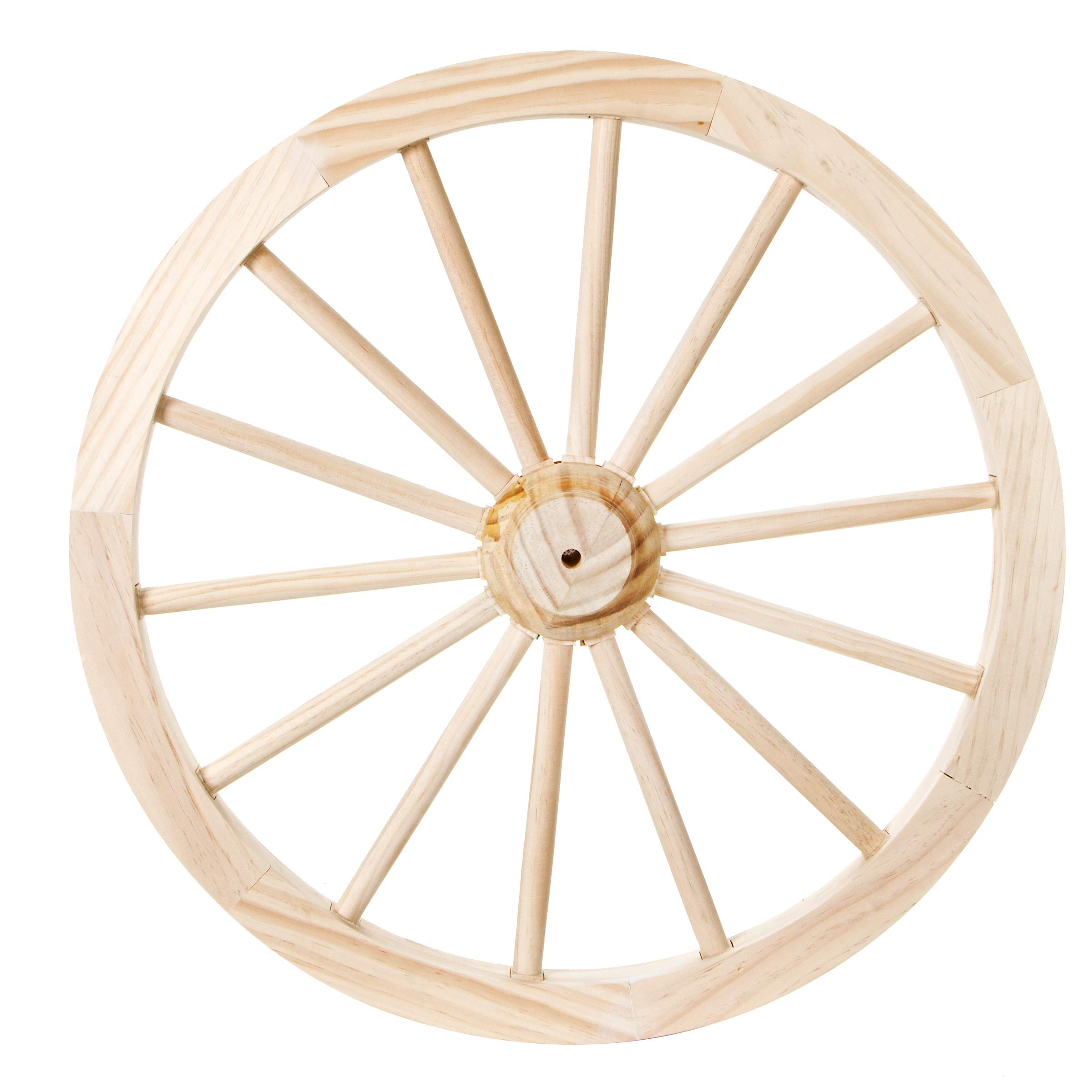 DARICE 9135-13 Unfinished Wood Decorative Wagon Wheel: 23.5 inches