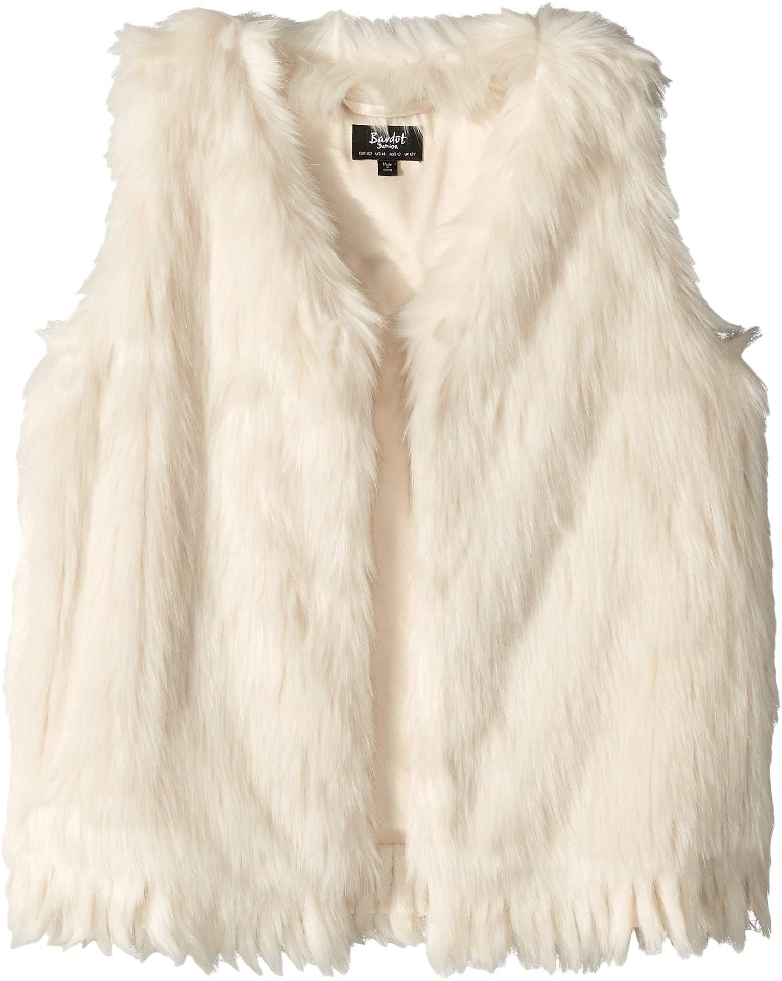 Bardot Junior Girl's Fur Waistcoat (Big Kids) Pebble Ivory 14 (US 16 Big Kids) by Bardot Junior