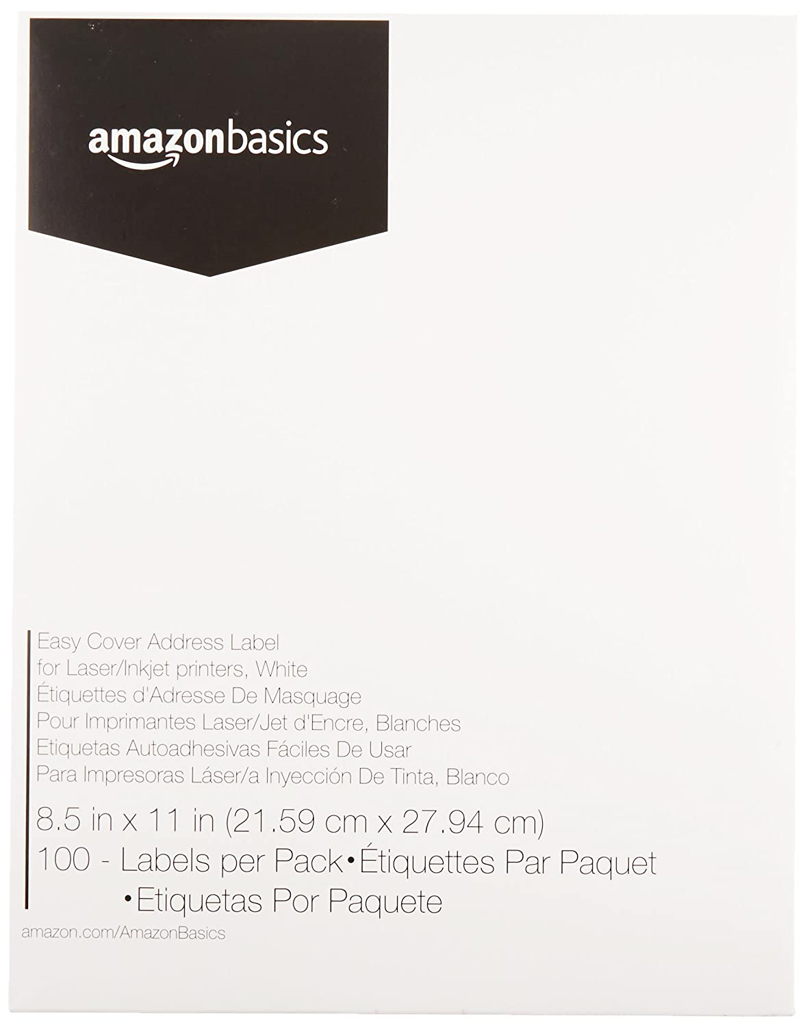 AmazonBasics Easy Cover Address Labels