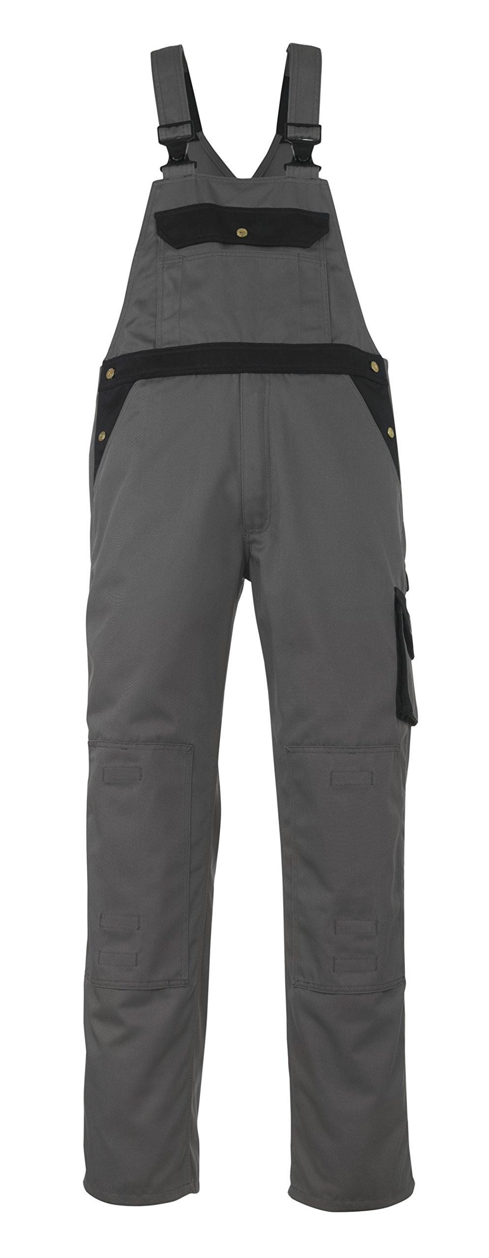 Mascot 00969-430-8889-90C48''Milano'' Bib & Brace Overalls, L90cm/C48, Anthracite/Black