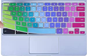 Colorful Keyboard Cover for 2020-2017 Samsung Chromebook 4 3 XE310XBA XE500C13 XE501C13 11.6/Chromebook 4 15.6