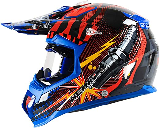 DOKJ Casco Motocross,Casco Cross para Niños/Adultos Casco Descenso ...