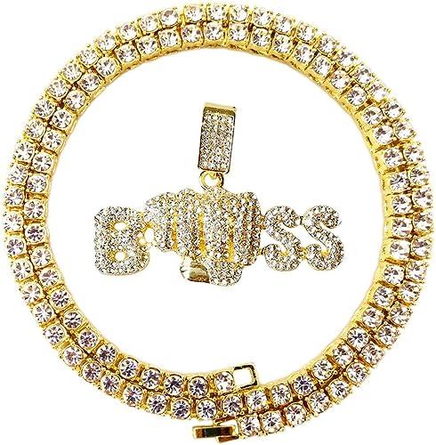 Women Gold Metal Urban Fashion Jewelry Set 4 Rings BOSS Word Size Band Hip Hop