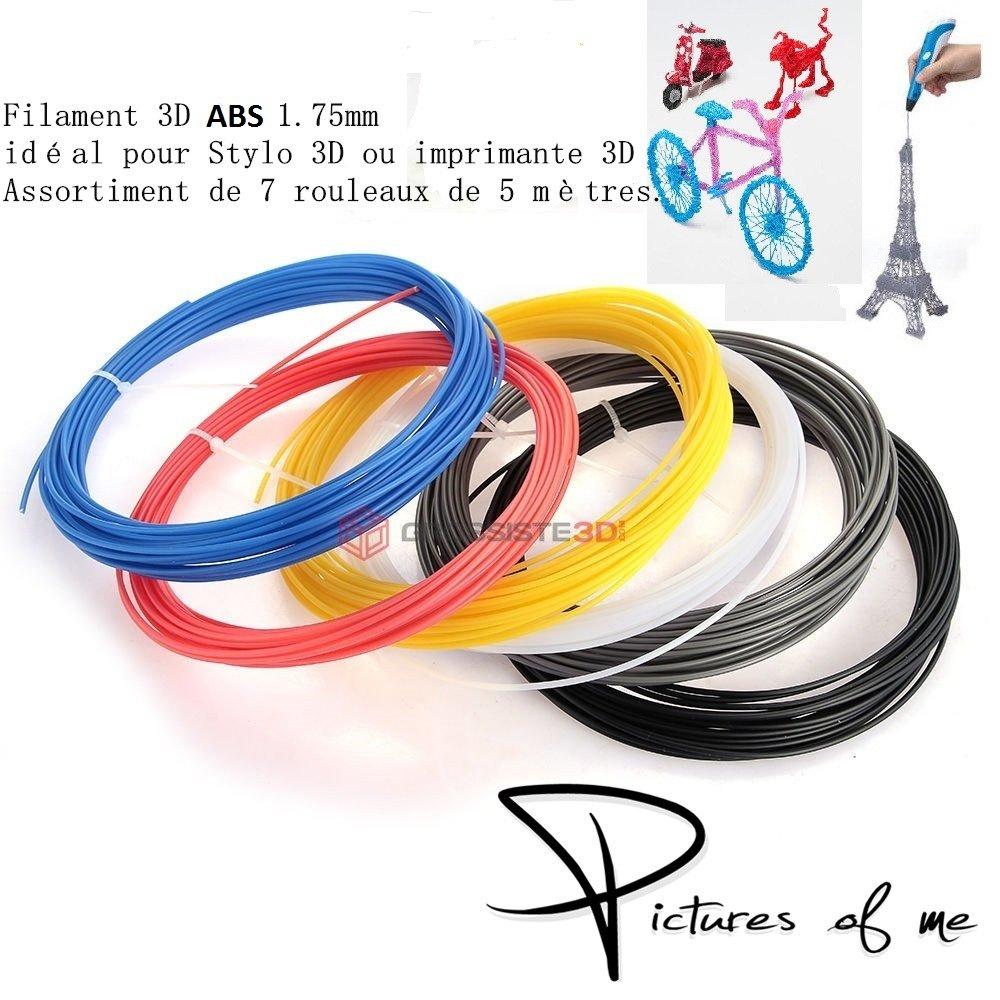 Surtido 7 x 5 métres/pcs hilos filamento ABS 1.75 mm para ...