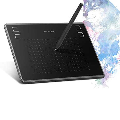 Huion Inspiroy H430P Graphics Drawing Tablet 4 8 x 3 inches with  Battery-Free Pen Recognize 4096 Pen Pressure with a Glove