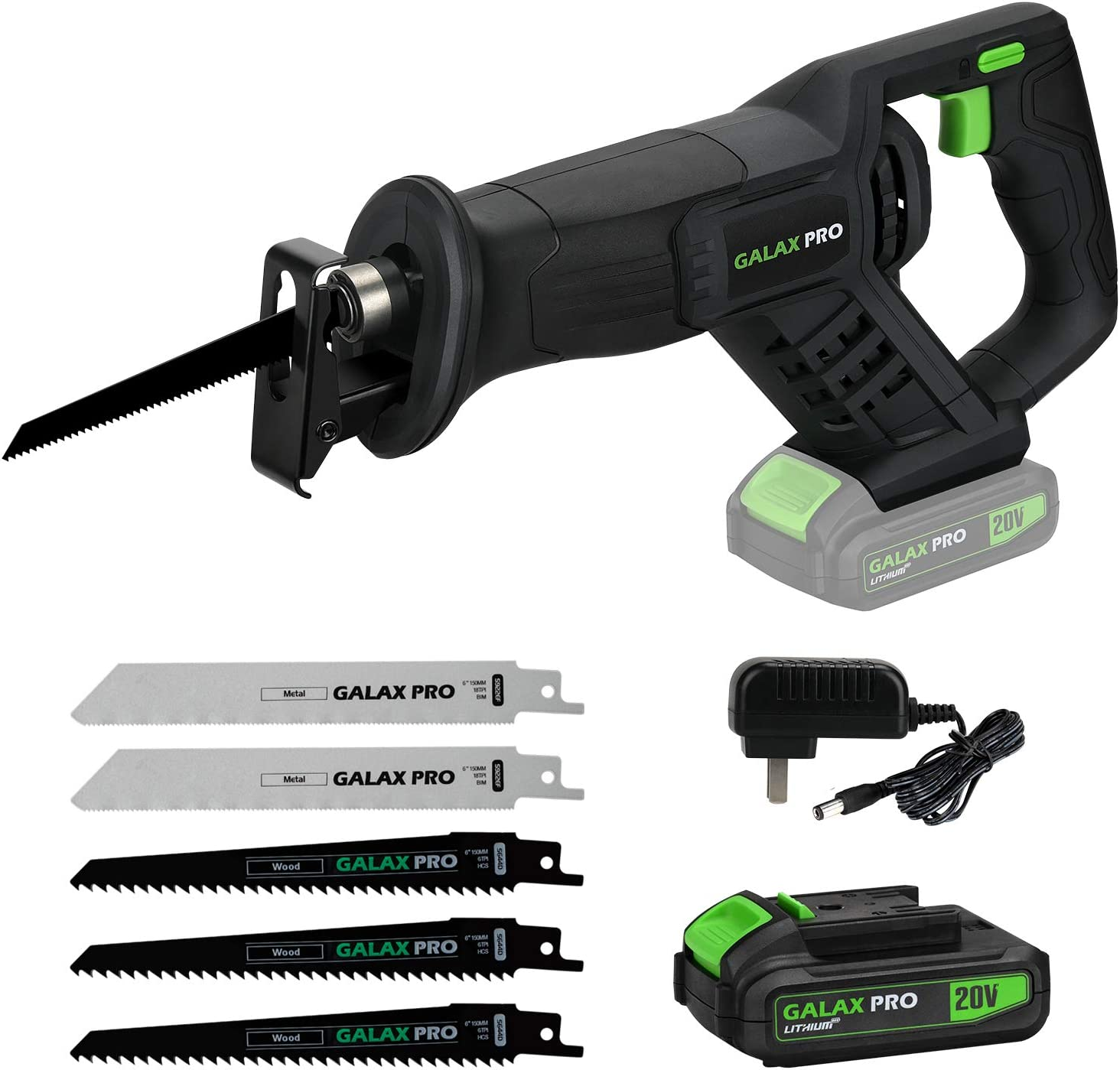 GALAX PRO Cordless Li-ion Reciprocating Saw with Fast Charger
