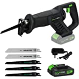 GALAX PRO Reciprocating Saw, Cordless Li-ion Reciprocating Saw with Fast Charger, Tool-free Blade Change and Variable…
