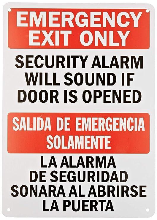 qidushop Divertido Placa señales de Emergencia Salida de ...