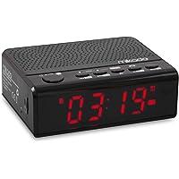 Mikado MD-A24 Saat ve Alarmlı USB SD FM Destekli Bluetooth Speaker, Siyah