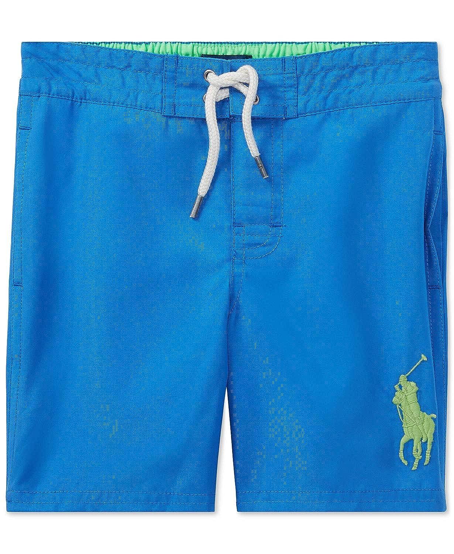 4 Ralph Lauren Polo Boys Big Pony Solid Swim Trunks
