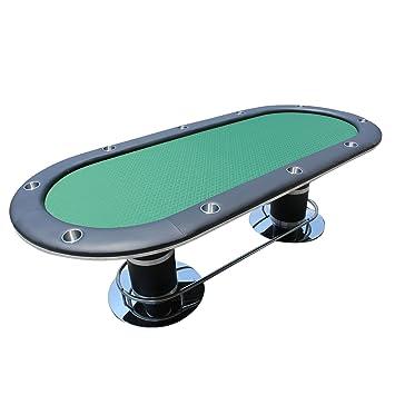 IDs Poker Mesa de póquer para 10 Jugadores Oval 96 x 43 Inch Copa ...