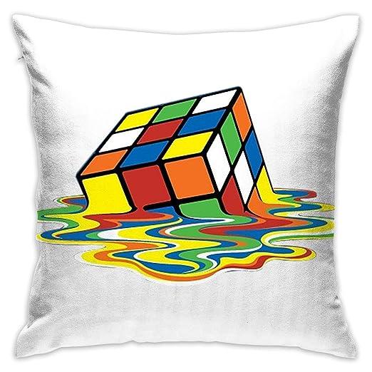 DDOBY - Funda de cojín con Forma de Cubo de Rubik de Hierro ...