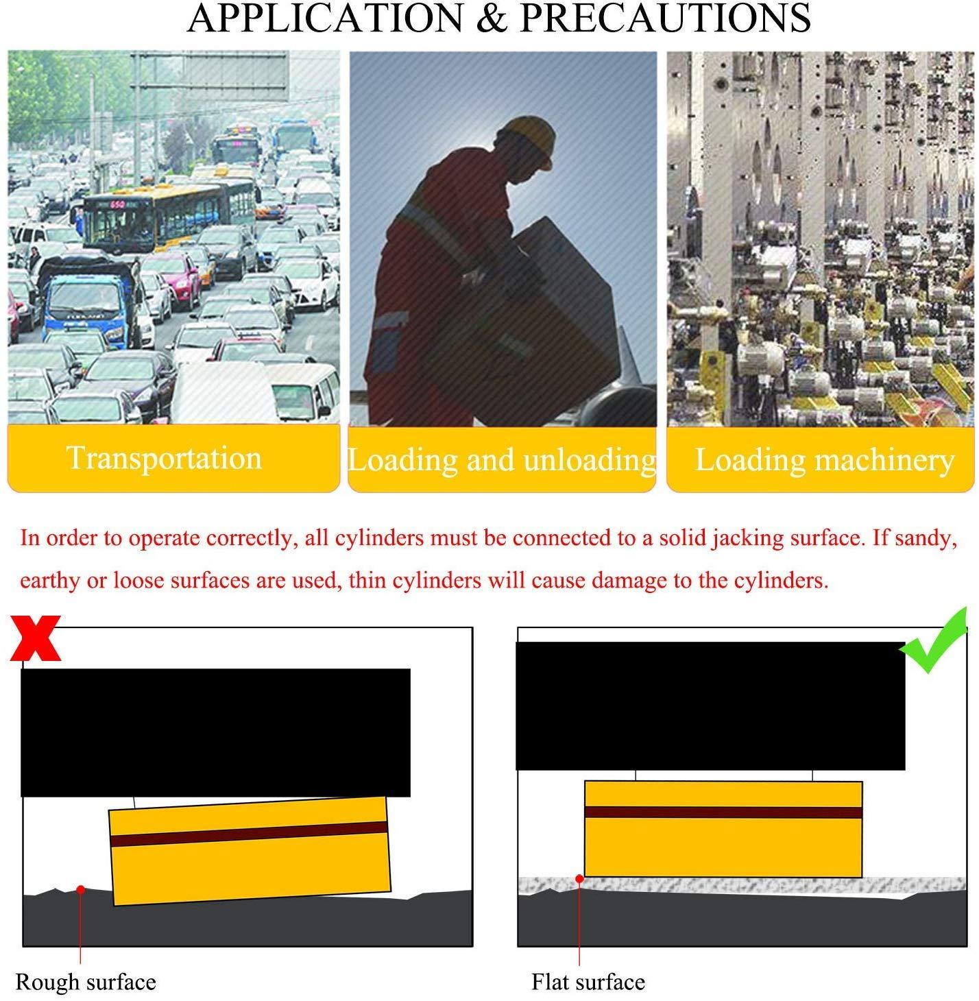 Puentes CGOLDENWALL Gato Hidr/áulico 5T Cilindro Hidr/áulico Ultrafino de Trazo hasta 8mm para Electricidad FPY-5T Qu/ímicos Acero Maquinaria