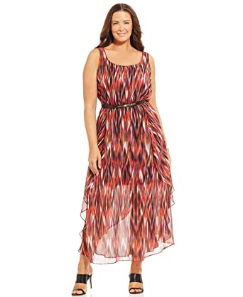 Calvin Klein Plus Size Printed Maxi Dress Msrp 159 50 24w At