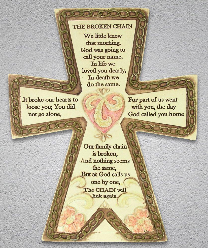 Amazon.com: Broken Chain Cross Plaque: Home \u0026 Kitchen