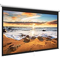 Projector Screen 100 Inch 16:9 - Auto-Locking Portable Projection Screen for 4K 3D 1080P HD - Manual Projector Screen…