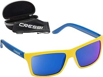 1de9665d0b Cressi Rio Sunglasses Gafas de Sol Deportivas, Lentes polarizadas/Anti UV  100%, Adultos Unisex, Amarillo espejadas Azul, Talla única: Amazon.es:  Deportes y ...