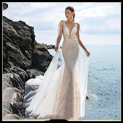 Vestido de novia Sirena de la boda de la vendimia vestido de ...