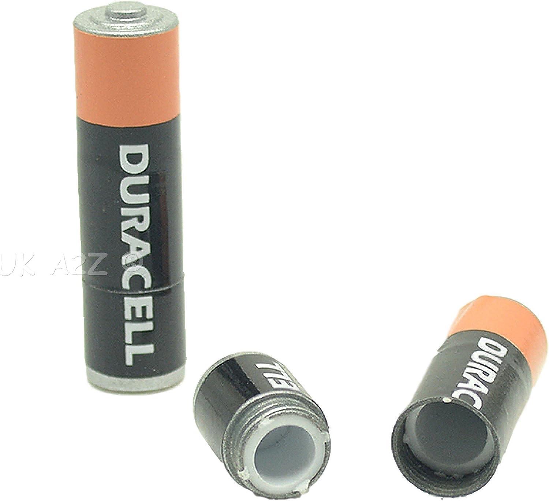 Provisiones secretas Contenedor de falsa batería AA.A prueba de agua/rasgaduras
