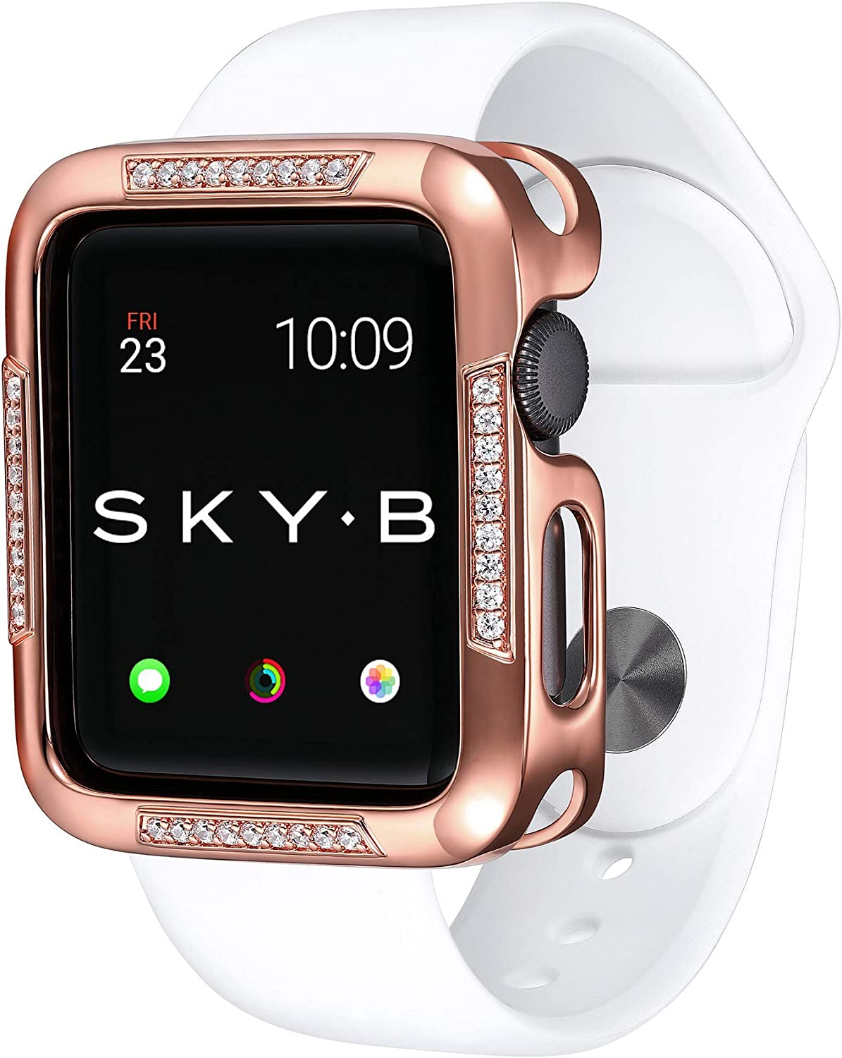 SKYB Runway Rose Gold Protective Jewelry Case for Apple Watch Series 1, 2, 3, 4, 5 Devices - 42mm