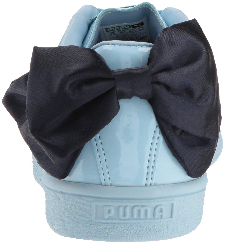 PUMA Unisex-Kids Basket Bow Patent Sneaker, Cerulean-Peacoat, 12 M US Little Kid by PUMA (Image #2)