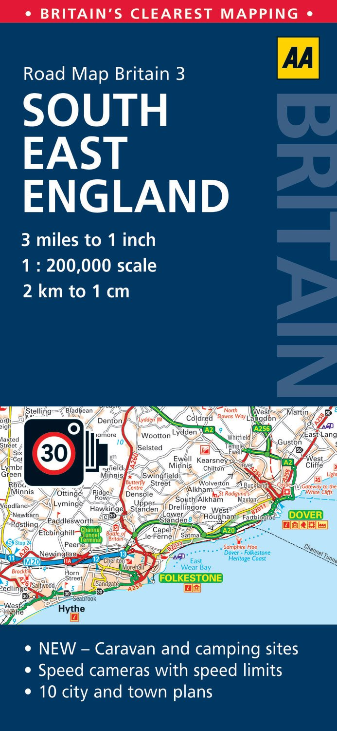 Road Map Britain 03 South East England 1 : 200 000 (AA Road Map Britain, Band 3)