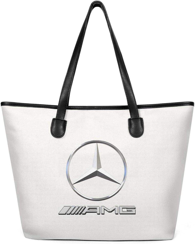 Women Canvas Tote Shoulder Handbag Large Capacity Bag Foldable Travel Totes Bag Creamy-White