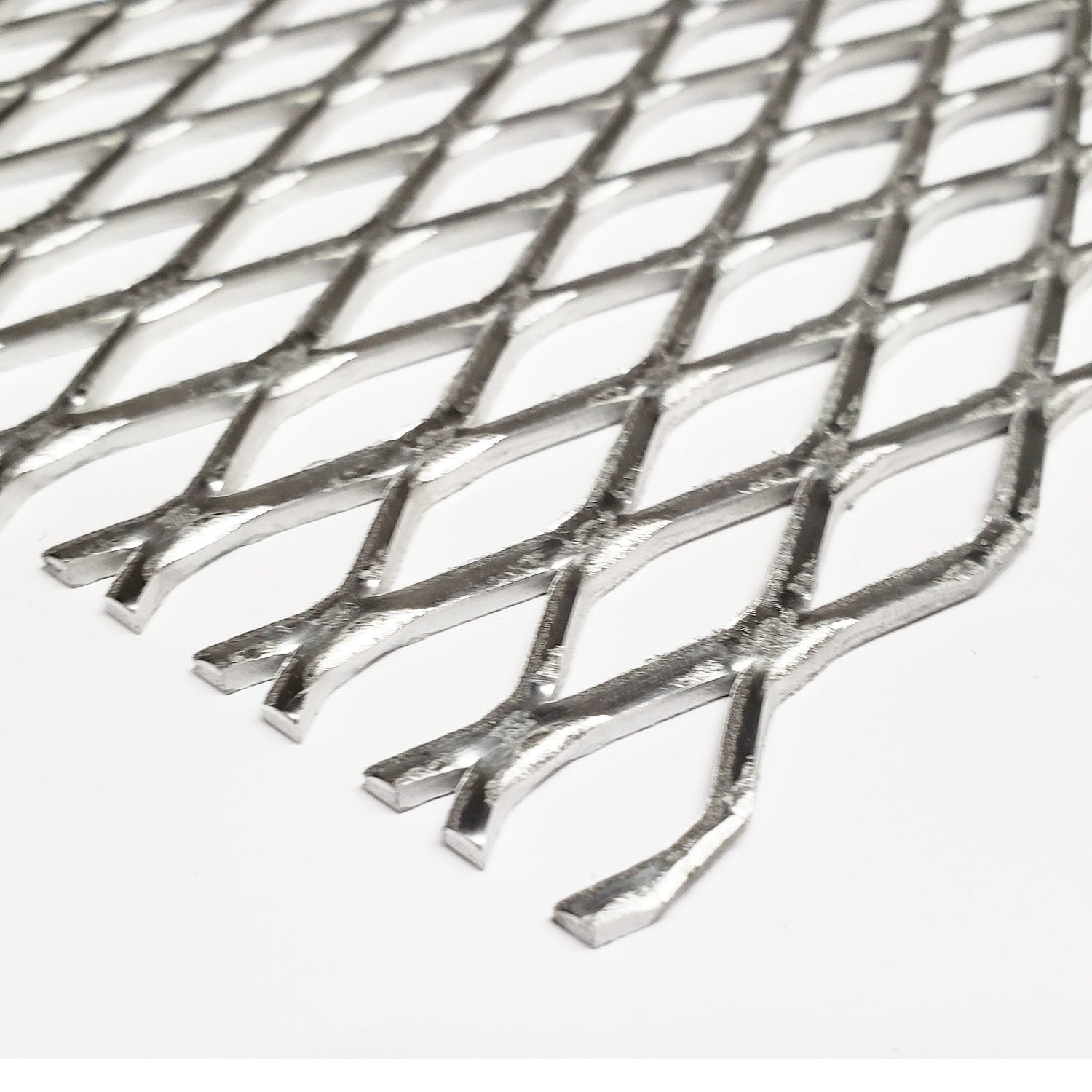 Online Metal Supply Aluminum Flattened Expanded Sheet, Style: 1/2-.081, 24 inches x 24 inches