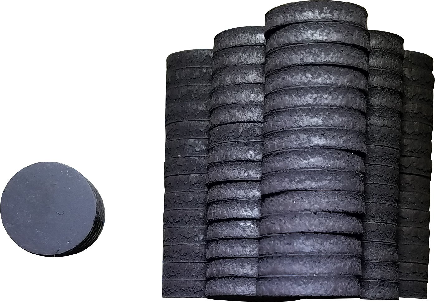 Ceramic Industrial Magnets - Round Disc - Ferrite Magnets, Science Project, Crafts, 0.75'' Round, 100 Pcs.