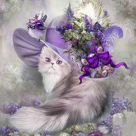 18X12 pouces // 45X30cm Papillon violet d/écoration murale artisanat de point de croix, AiEllen DIY diamant peinture compte ensemble