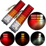 AMBOTHER Feux Arrières LED Clignotant Lampe Recul Imperméable Indicateur12V