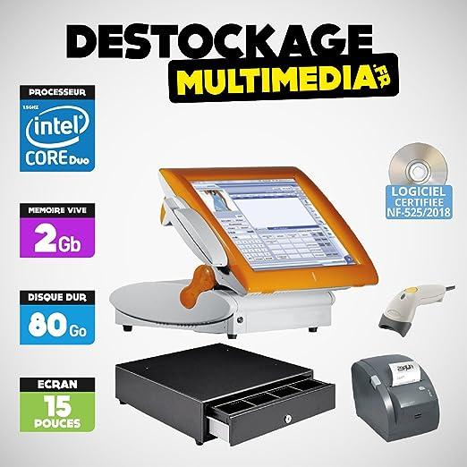Pack caja registradora táctil posligne Odysse todos commerces ...