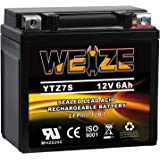 Weize YTZ7S-BS Sealed Maintenance Free AGM Battery Replacement YTZ7S Compatible with Honda TRX450ER TRX450R ATV Motorcycle Ba