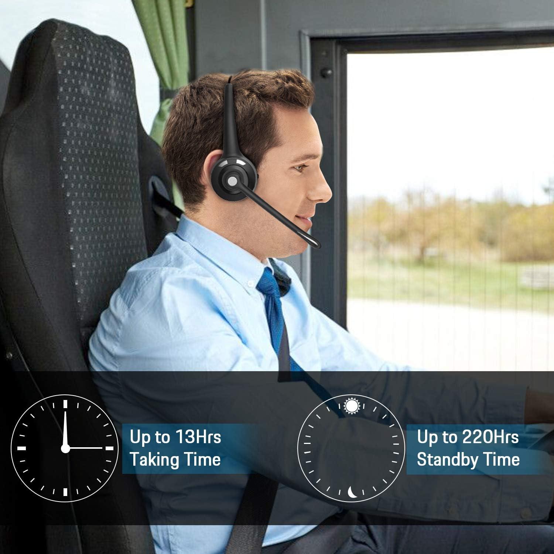 para Servicio Telef/ónico,Manos Libres,Skype,Call Centers,Truck Driver Auricular Bluetooth Cascos PC con Cancelaci/ón de Ruido,Auriculares inal/ámbricos de Oficina BlueFire Auriculares con Micr/ófonos