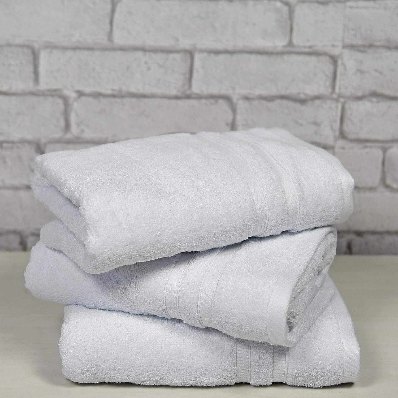 Sensei Maison /Öko-Tex Zertifiziert Pack Frottee Sensilk 3 Handt/ücher 50 x 100 cm sehr weich und saugf/ähig Dichte 600 g//m/² Farbe wei/ß 80/% Baumwolle und 20/% Modal/®