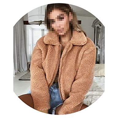 Amazon.com: Abrigo de lana cálida para mujer, de otoño, de ...
