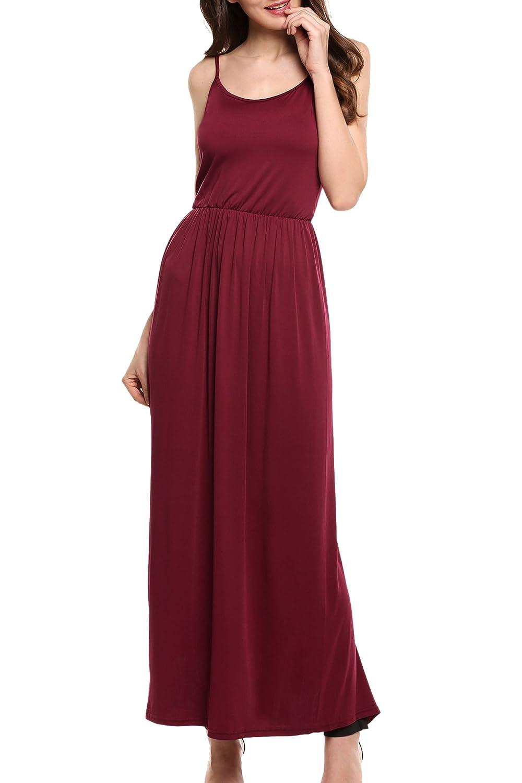 Meaneor Women's Adjustable Slip Dress Spaghetti Strap Long Maxi Dresses
